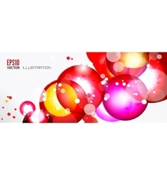 Abstract background with round elements vector image