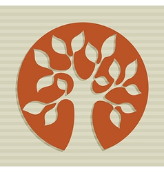 Abstract leaf tree design vector image vector image