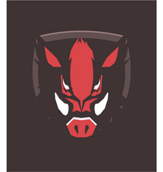 boar head emblem vector image