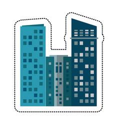Building architecture modern cityscape vector