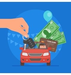 Car sale Customer buying auto vector image vector image