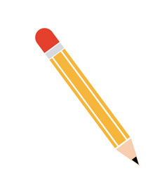 Cartoon pencil write utensil wooden vector