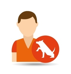 character pet training dog shake hand vector image