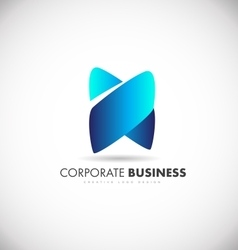 Corporate business abstract shape logo icon design vector