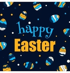 Easter design background Easter eggs vector image vector image