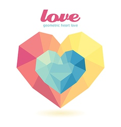 Geometric heart modern design graphic vector