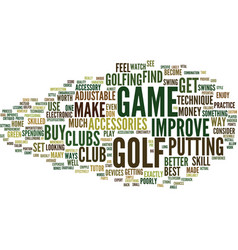 Golf accessories to improve your game and vector