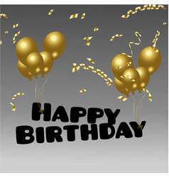 happy birthday with confetti vector image vector image