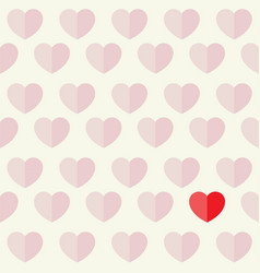 hearts and love flat icon design background vector image