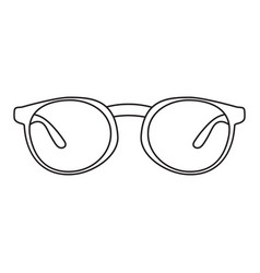 icon with a picture of a frame for glasses a vector image