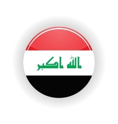 Iraq icon circle vector