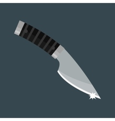 Knife dagger weapon vector image vector image