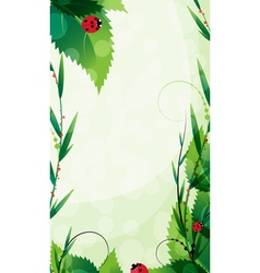 Ladybugs in the summer sunshine vector image