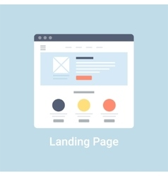 Landing page wireframe vector