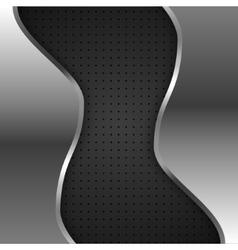 metal on black background vector image vector image