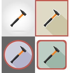 Repair tools flat icons 10 vector