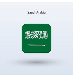 Saudi arabia flag icon vector