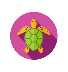 Sea turtle icon summer vacation vector