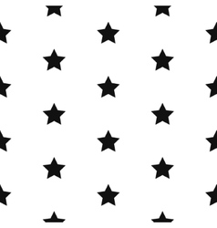 Simple star shape black and white seamless pattern vector