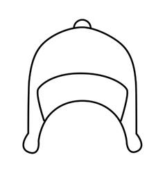 Snow hat wear icon design vector