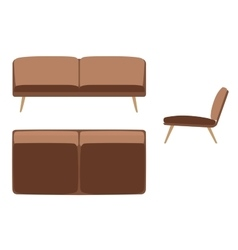 Sofas set furniture for your interior design vector