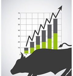 stock exchange vector image vector image