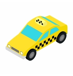 Taxi car isometric 3d icon vector image vector image