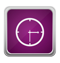 Violet square button relief with silhouette wall vector
