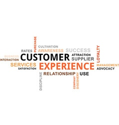 word cloud customer experience vector image