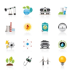 power and energy production icons vector image