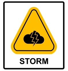 Storm hazard sign sign for outdoor vector