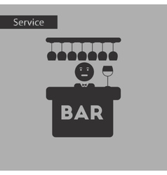 Black and white style icon bar bartender vector