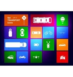 Set of transport icons navigator vector