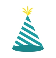 Hat birthday isolated icon vector