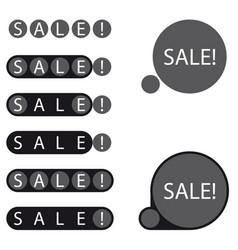 Stickers sale label vector
