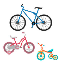 set of bicycles realistic vector image