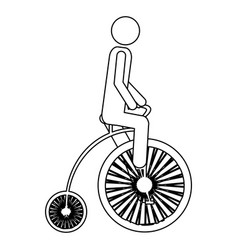 monochrome contour pictogram of man in penny vector image