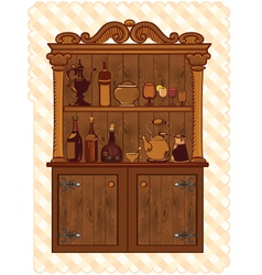 Vintage cupboard vector
