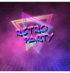 1980 Neon Poster Retro Disco 80s Background made vector image vector image