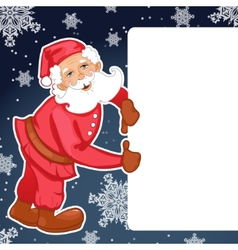 Santa claus with christmas greetings eps10 vector