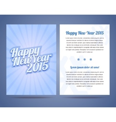 Happy New Year flyer design template vector image