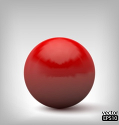 3d red ball vector image