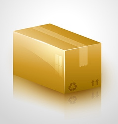 Fragile cardboard design vector