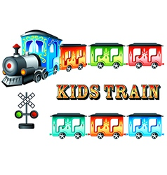 kids train vector image