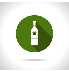 Flat vine bottle vector