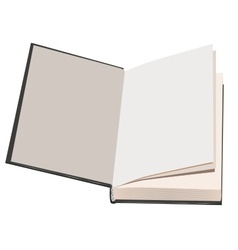 Flyleaf open book vector