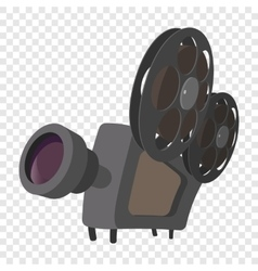 Cinema camera cartoon icon vector