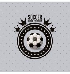 Soccer league design vector