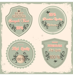 Set of premium quality labels vector
