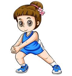 A caucasian girl exercising vector
